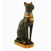 Estatua Enfeite Egipcio Gato Bastet 20cm