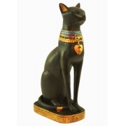 Estatua Enfeite Egipcio Gato Bastet 38 Cm