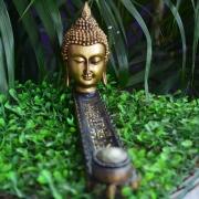 Incensário Régua cabeça de Buda em Resina
