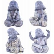 Jogo Com 4 Buda De Resina Importado