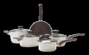 Jogo De Panelas 5 Peças - Ceramic Life Optima - Nata Brinox