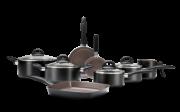 Jogo De Panelas 8 Peças - Ceramic Life Smart Plus - Preto Brinox