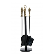 Kit de limpeza para lareira P cabo bronze 3 ferramentas
