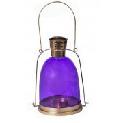 Lanterna Indiana Purple Dome artesanal 24x16x16cm