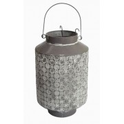 Lanterna Metal Cinza 33x21x21cm