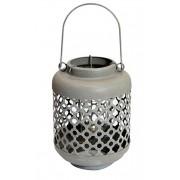 Lanterna Metal Cinza Quartzo 27x13x13cm