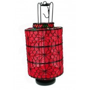 Lanterna Oriental Vermelha I 33x15x15cm