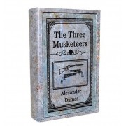 Livro caixa The Three Musketeers 25x17x6cm