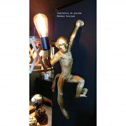Luminária de Parede Monkey Dourada
