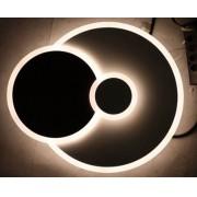 Luminária Parede Led 3 Círculos Metal Branco Conjunto 2 Peça