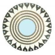 Mandala Prt/ Brc/ Sol Mosaico Madeira Bali Imp
