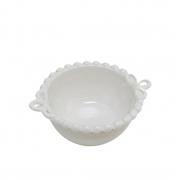 Mini Bowl Cerâmica Branca 10,5x14,5x5