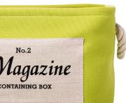 Organizador Redondo Verde Limão Com Alças Em Corda