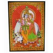 Pano G Casal Krishna Com Vaca
