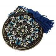 Pingente Pedraria Blue Em Metal 8x7x7cm