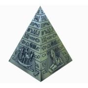 Pirâmide G Dourada De Metal Importação