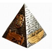 Pirâmide Prata Egípcia M de Resina