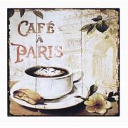 Placa De Metal Cafe De Paris Ldway 25x25cm