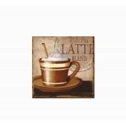 Placa De Metal Mocha Latte Oway 25x25cm