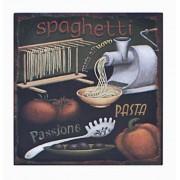 Placa De Metal Spaghetti Oldway 25x25cm
