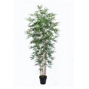 Planta Artificial Bambu Folhas Verdes 190cm