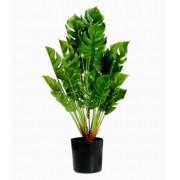 Planta Artificial Pvc Com Vaso Preto 40cm