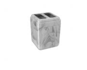 Porta-escova Cube cor Mármore Branco