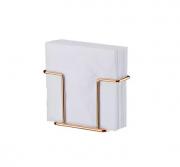 Porta Guardanapos Rosé Gold