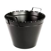 Porta lenha tipo tacho/balde