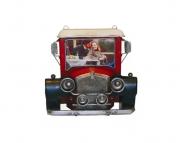 Porta Retrato Calhambeque Vermelho Oldway 22x22x7cm