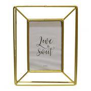 Porta Retrato em Ferro Dourado Keep Simple