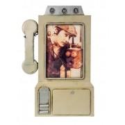 Porta Retrato Telefone Cinza