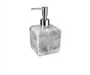 Porta-sabonete líquido Cube 330 ml cor Mármore Branco