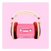 Quadro Decorativo Music Rosa 42x42cm