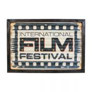 Quadro em Metal com Led Film Festival Oldway 30x43x4cm