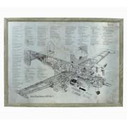 Quadro Estrutura Aviao Mr Mk3 Oldway 60x80x3cm