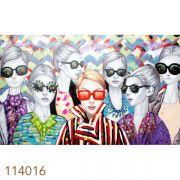 Quadro Pintura Mulheres De Oculos