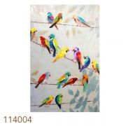 Quadro Pintura Pássaros Coloridos