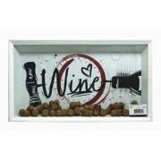 Quadro Porta Rolhas Wine Desenho