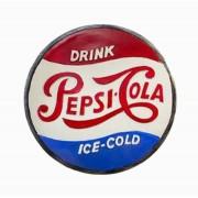 Quadro Tampa Pepsi D=35 35x35x8cm
