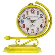 Relógio Amarelo Duas Faces