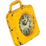 Relógio Amarelo Em Ferro Oldway