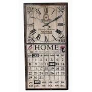 Relógio Com Calendário Branco Home 60x30x4cm