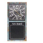 Relógio com Quadro Negro Note Board Oldway 60x30x4cm