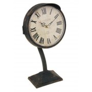 Relógio de Mesa Antigo em ferro 32x16x8cm