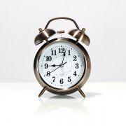 Relógio de Mesa com Despertador Pequeno Rose Gold Escurecido
