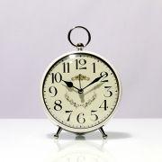 Relógio De Mesa Pequeno Branco