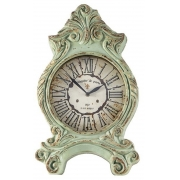 Relógio de Mesa Resina Verde Clássico Vintage 51x32x9cm