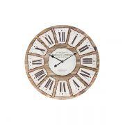 Relógio De Parede Cor Madeira Bordeaux