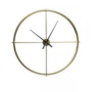 Relógio De Parede Em Metal Dourado 90x90x6cm